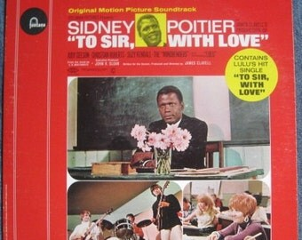 To Sir With Love Original Motion Picture Soundtrack 1967 Lp Original Vinyl Record Album