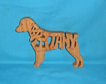 Brittany Dog Breed Handmade Scroll Saw Wooden Puzzle