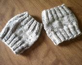 Hand Knit Boot Cuffs - L/XL