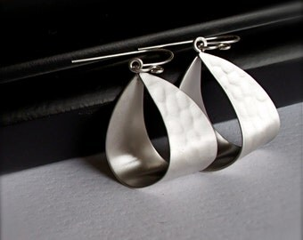 Hoop Earrings-Urban-Edgy-Unique Silver Earrings