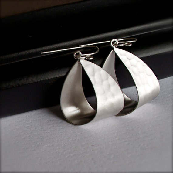 Hoop Earrings-Urban-Edgy-Unique Silver Earrings
