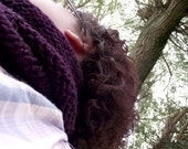 Brambles Infinity Scarf Purple Soft Chunky And Cosy Hand Knitted Fall Autumn Winter