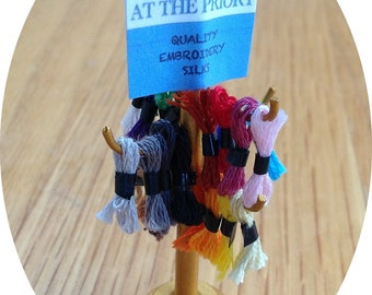 Dolls House Miniature 1/12th Embroidery Silk Stand