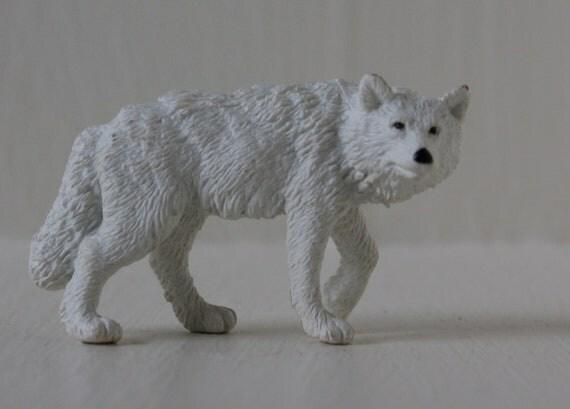 Arctic Wolf Vintage Toy Figure