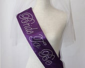 Bride To Be- Bachelorette Sash - Royal Purple