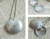 Hand Stamped Mom Locket - Sterling Silver Mommy Necklace With Swarovski Birthstone Crystals By Inspired Jewelry Designs