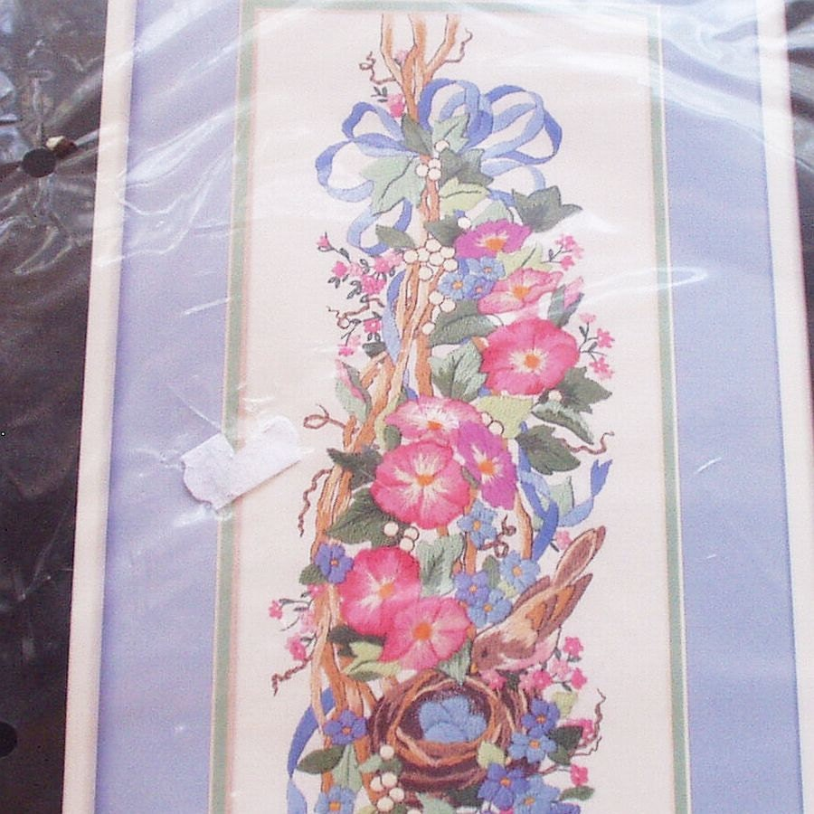 Dimensions crewel work kit spring floral embroidery