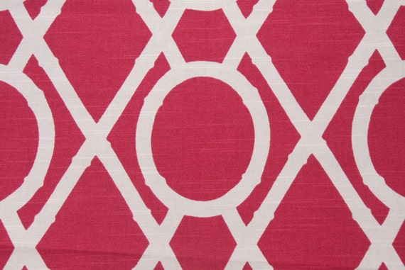 Mod Raspberry Bamboo Lattice Cotton Fabric by Robert Allen
