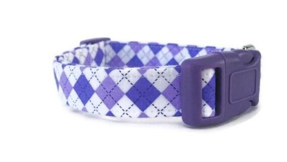 Purple Argyle Dog Collar