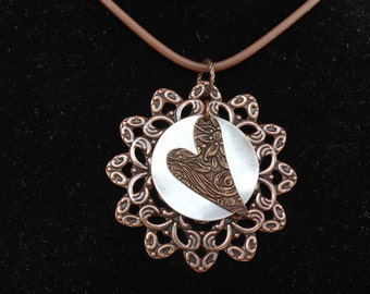 Party hearty antique copper pendant (Style #1450)