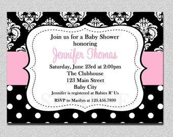 Damask Baby Shower Invitation Damask Baby Shower invitation