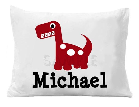 Dinosaur Pillow Case Personalized Pillowcase Girls or Boys