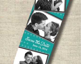 Save The Date Modern Photo Booth Magnet