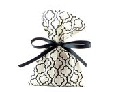 Small Black & White Gift Bag or Gift Card Holder