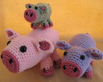 Piggy Pig Stackers Crochet Amigurumi Pattern