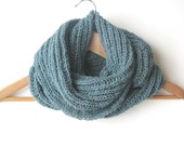 Dusk blue men's scarf - wool scarf - Autumn Winter - tricotaria