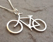 Cute Bicycle Handmade Sterling Silver Pendant