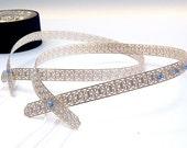 STEFANA Wedding Crowns - Orthodox Stefana - Bridal Crowns BYZANTIUM silver - One Pair
