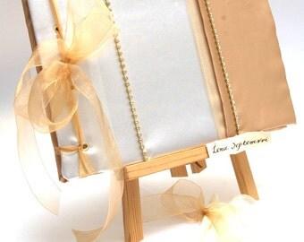 Wedding Guest Book - Gold,  Elegant Weddings
