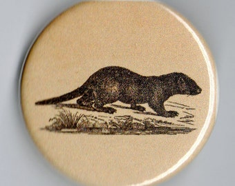 Otter  Image 1.25 inch BUTTON