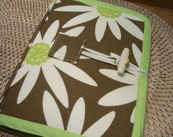 Sale New Reader Case Cover Storage Protector White Daisy Print Brown Portfolio