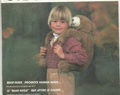 McCall's Crafts Pattern Bear Hugs from 1985 for Childrens Backpack Really Cute for Little Ones