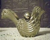 Vintage Metal AVON Cologne Bird/Partridge