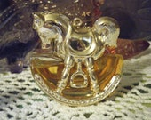 Vintage Rocking Horse AVON Cologne Bottle/Ornament