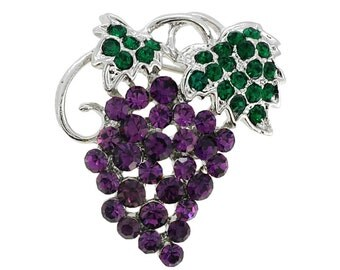 Amethyst Grape Cluster Pin Brooch 1000241