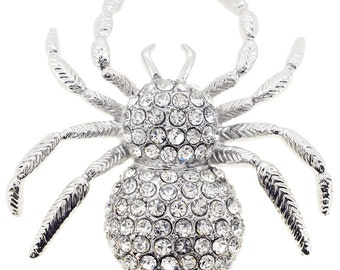 Crystal Spider Pin Brooch 1000141