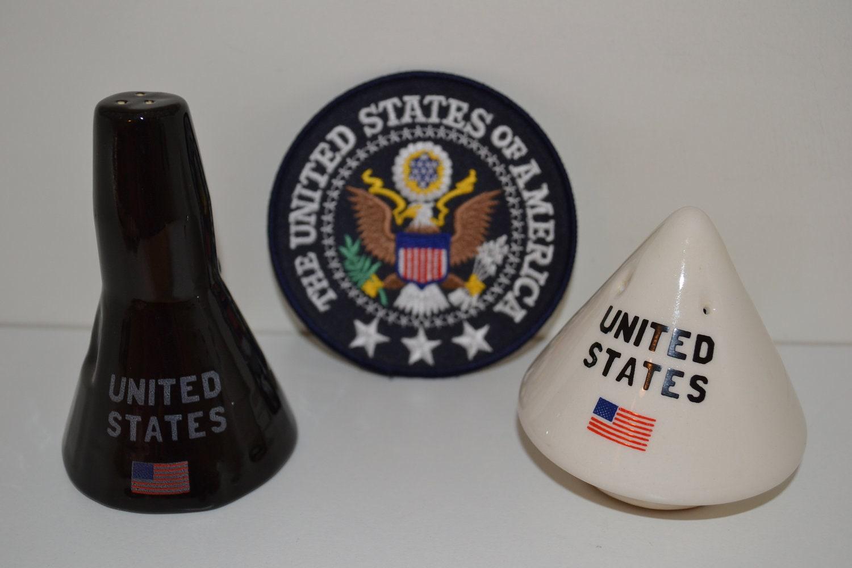 Rare Vtg Salt Amp Pepper Shakers Nasa Kennedy Space Center