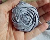 Silk Wedding Flowers Silver Fabric Flower Rosettes Silk Flowers