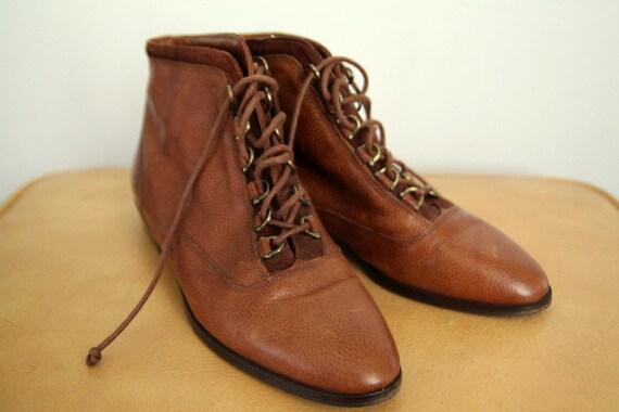 Philip Joseph Italian Leather Oxford Booties (sz 9.5)