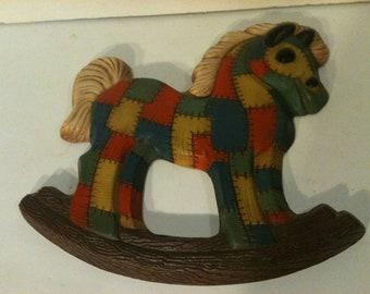 Vintage Patchwork Rocking Horse