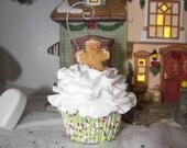 Gingerbread Man Faux Cupcake Ornament