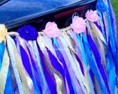 Ribbon ,lace  tulle, satin WEDDING CAR DECORATION