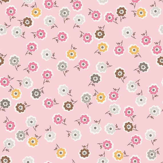 1/2 Yard LAMINATED Cotton Pink Western Rose by Riley Blake - 42 Inches Wide, BPA and PVC Free