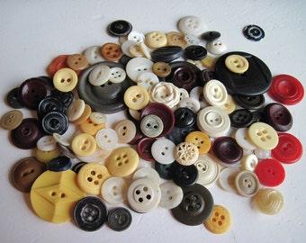 Vintage Button destash Primitive for Craft or Scrapbooking