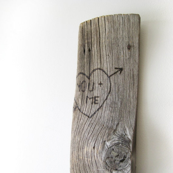 YOU and ME - Rustic Unique Wood Burned Wall Art