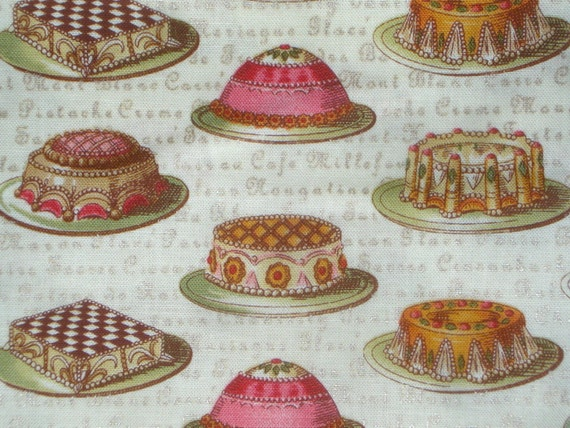 SALE : Tea Dainties Lake House Dry Goods fabrics ivory gold FQ or more