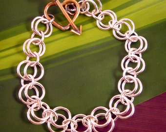 """Sterling silver and brass """"cupid"""" bracelet"""