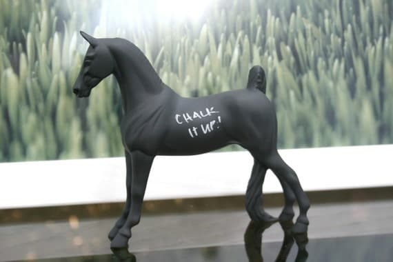 The Original Pint-And-A-Half-Sized Chalkboard Horse