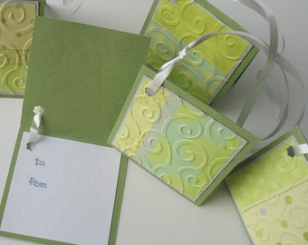 Baby Gift Tags: Five Pack Set / Flip Open & Handmade - Delightfully Dainty