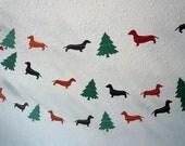 Dachshund Christmas Paper Garland