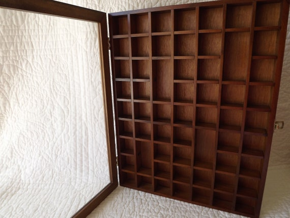 Vintage Wood Display Case for Thimbles