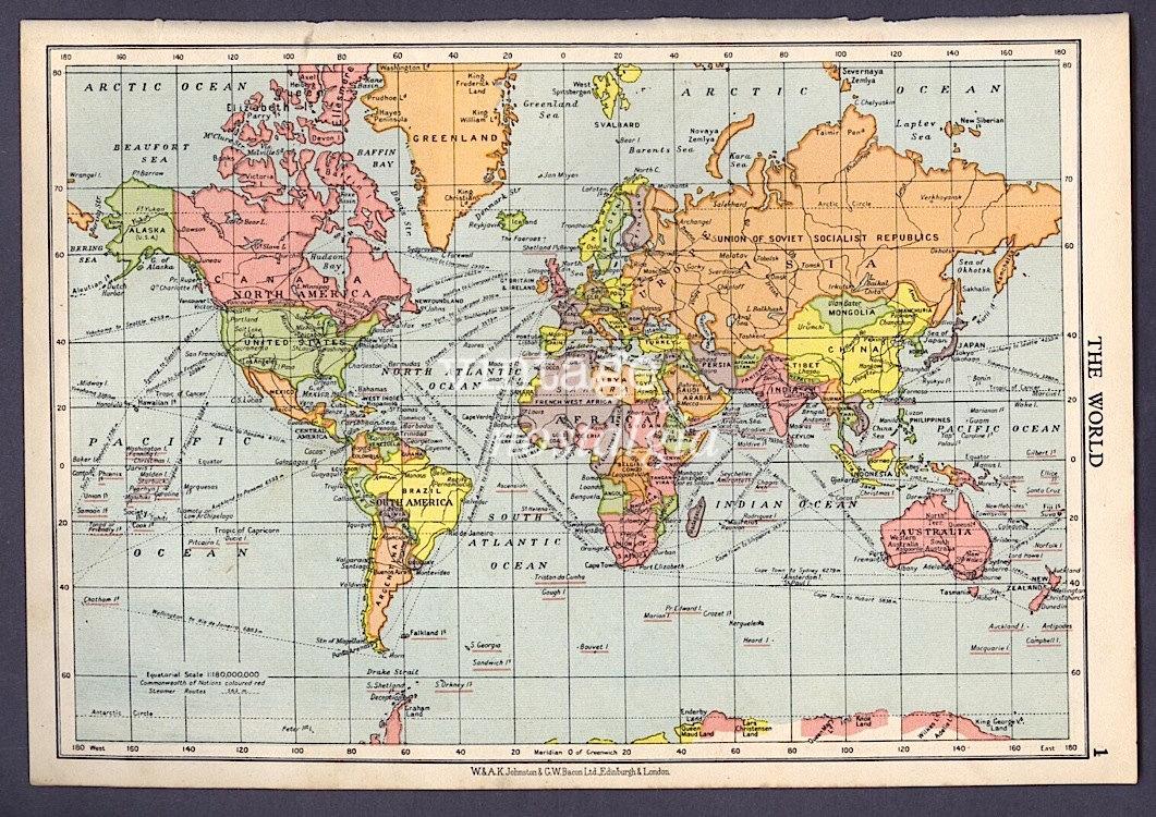 Vintage World Atlas 114