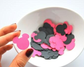 100 Mickey confetti, Mickey mouse confetti,  (1 inch) die cut, cardstock confetti, party favor confetti, party confetti, table decor, A254