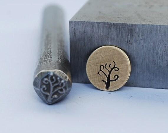 Tree or Branch Metal Stamp- LARGE- 3/8 in.-Metal Stamping Tool-Perfect for Metal Stamping and Metal Work