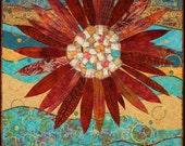 Handmade Art Quilt - Flowerburst