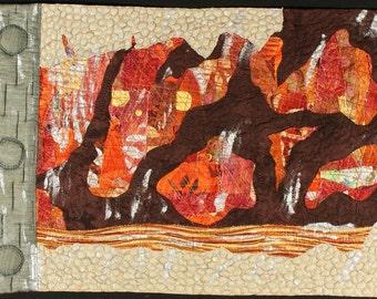 Handmade Art Quilt - Distress